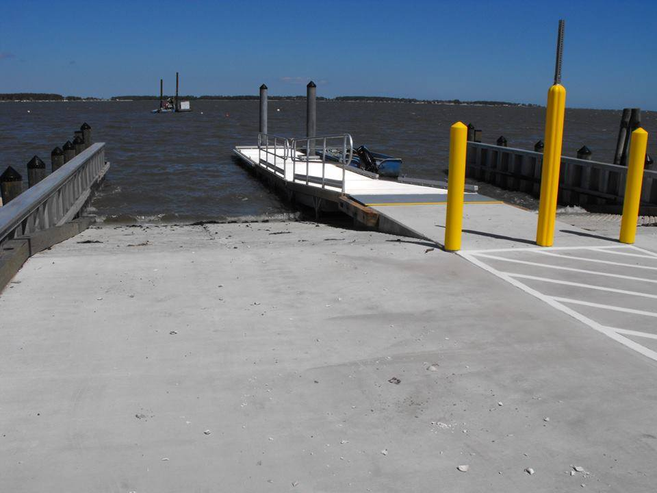 Holts Landing New Boat Ramp