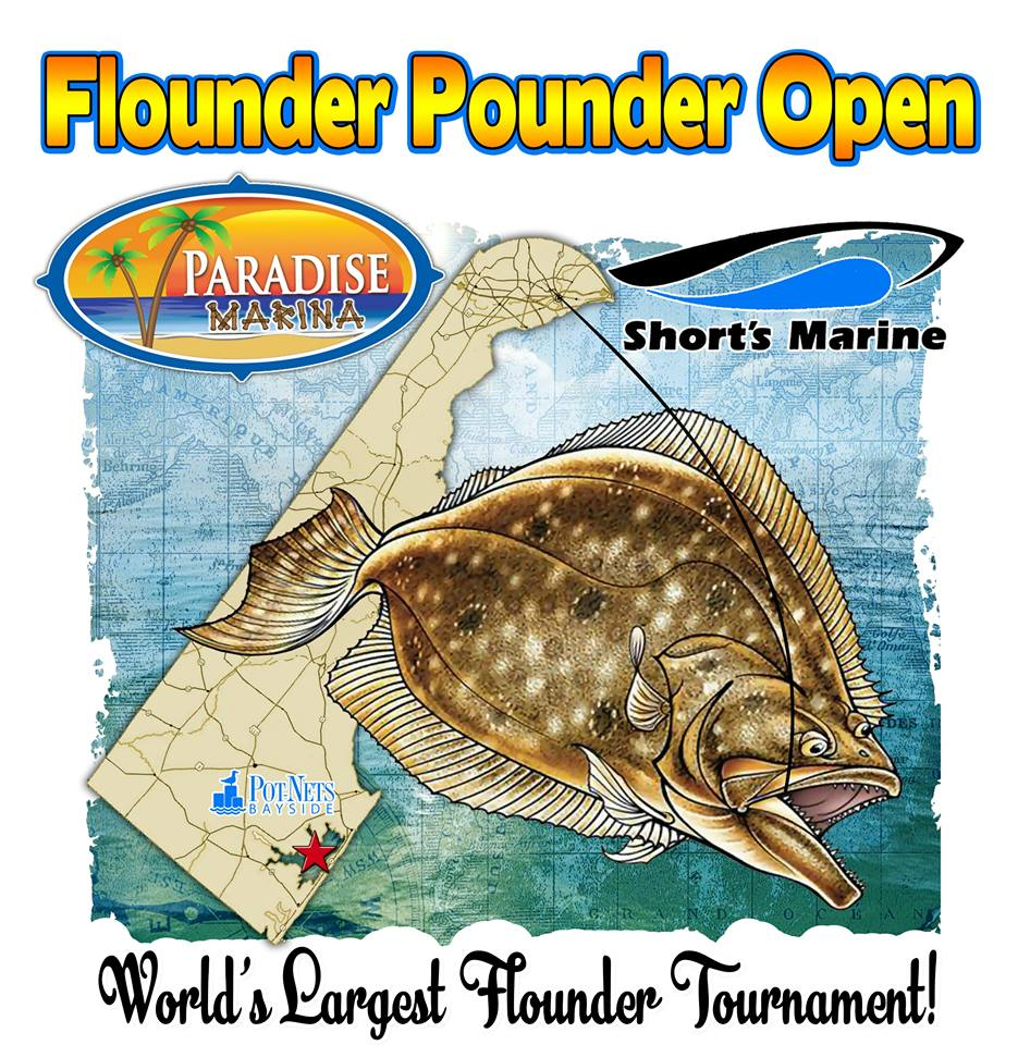 Flounder Pounder Open 2018, delaware, sussex county, long neck, paradise island, marina, grill, largest flounder tournament in the world, lets pound cancer