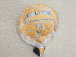 Spalding mylar balloon, delaware, sussex county, basketball