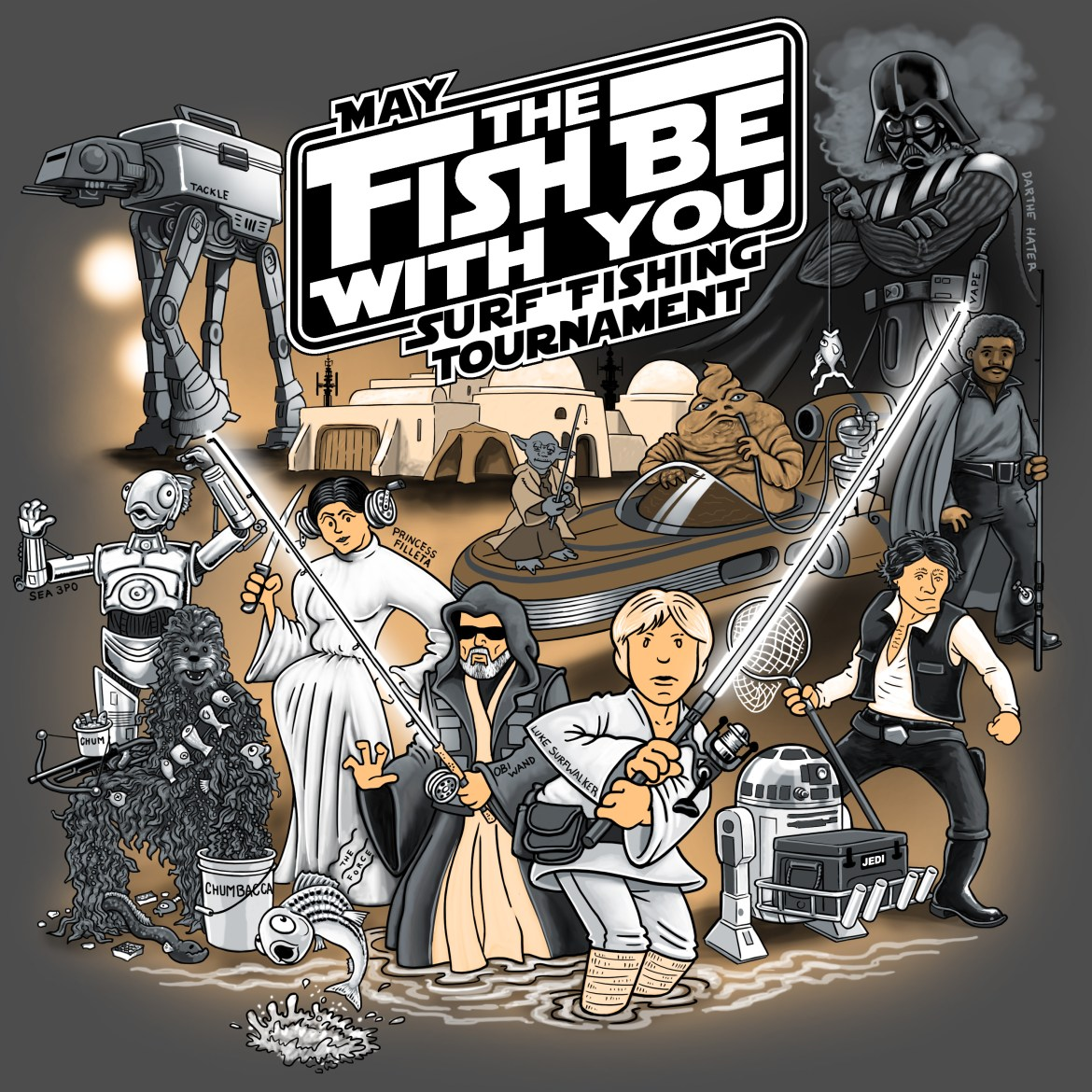 May The fish Be With You surf fishing tournament, delaware, sussex county, star wars parody,