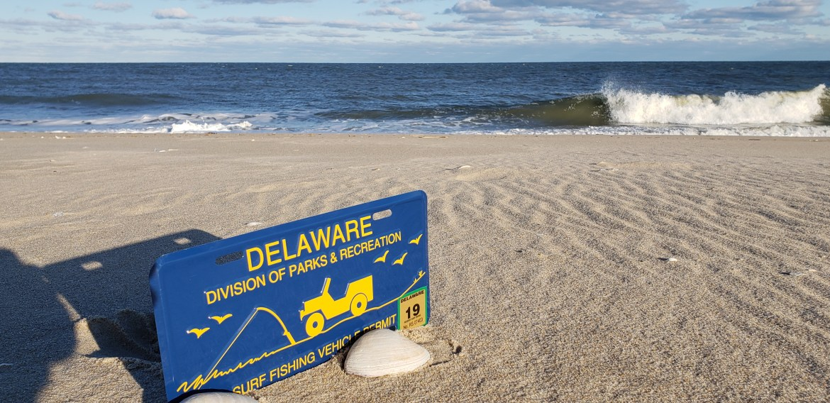 2019 Delaware Surf Fishing tag, delaware state park passes, ORV permits, OSV vehicle permit, sussex county, delaware