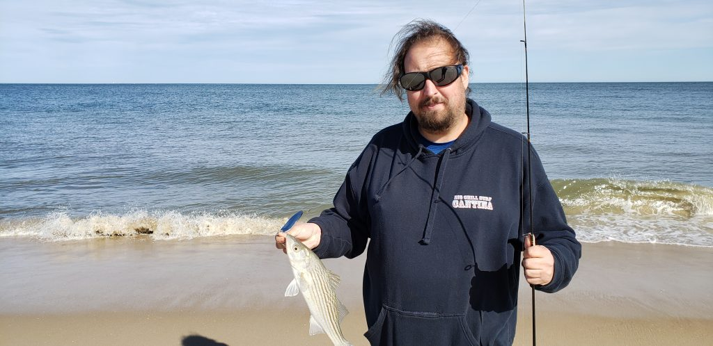 striped bass, surf fishing, delaware seashore state park, sussex county