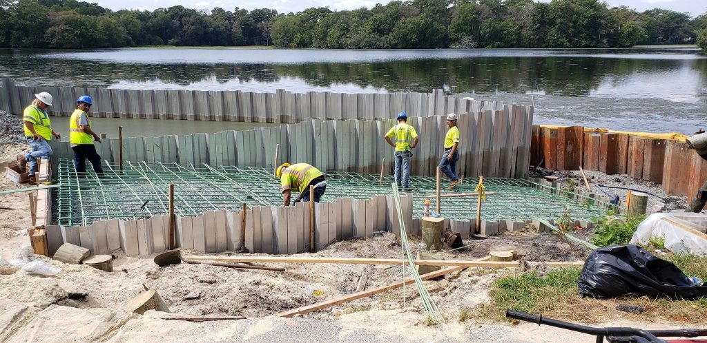 boat ramp construction, Millsboro pond, delaware, sussex county, dnrec projects, freshwater fishing