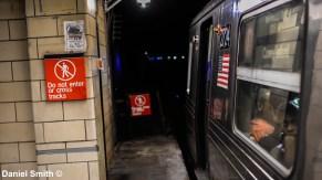 D Train At 116th Street