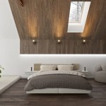 Sloped Bedroom Ceiling With Modern Wood Panels D Signers