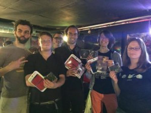 Les finalistes de Kid Icarus: Uprising, avec Syl, Anthiflo, Mokona, Poundie, Faust et Gelolu
