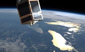 Satellite in Orbit Space Telesat