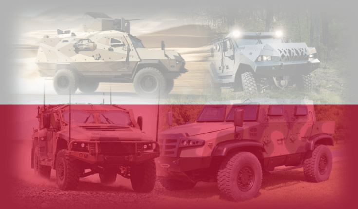 collage of armored vehicles