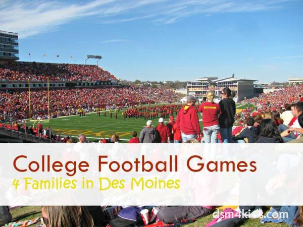 College Football Games 4 Families in Des Moines - dsm4kids.com