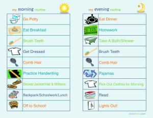 Back To School: Establishing Morning & Evening Routines 4 Kids – dsm4kids.com