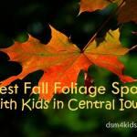 Best Fall Foliage Spots with Kids in Central Iowa - dsm4kids.com