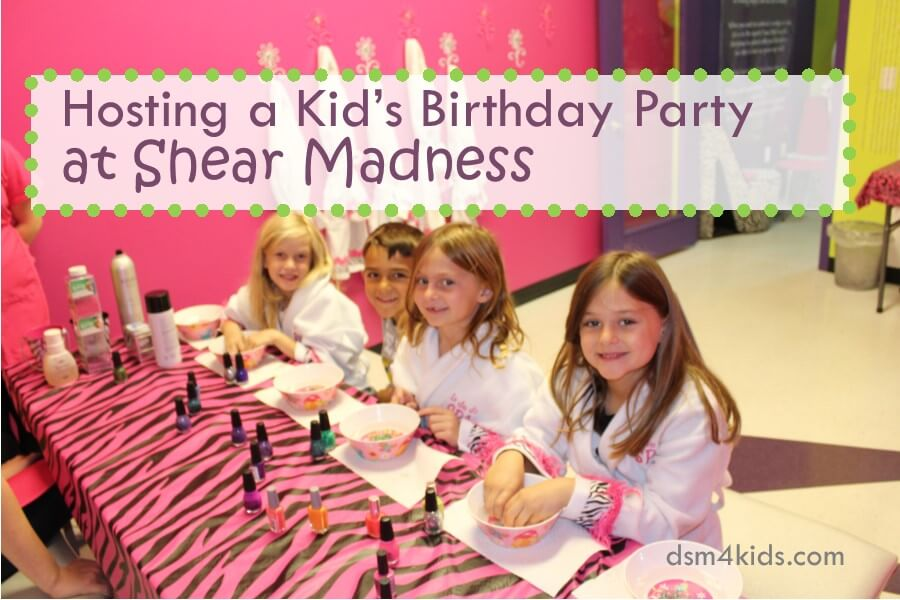 Hosting a Kid's Birthday Party at Shear Madness
