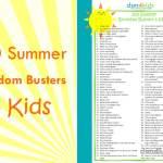 100 Summer Boredom Busters 4 Kids - dsm4kids.com