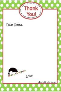 "Say, ""Thank You Santa!"" with a FREE Printable from dsm4kids – dsm4kids.com"