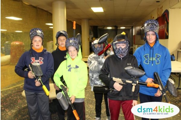 Hosting a Birthday Party at ICU Paintball in Des Moines - dsm4kids.com