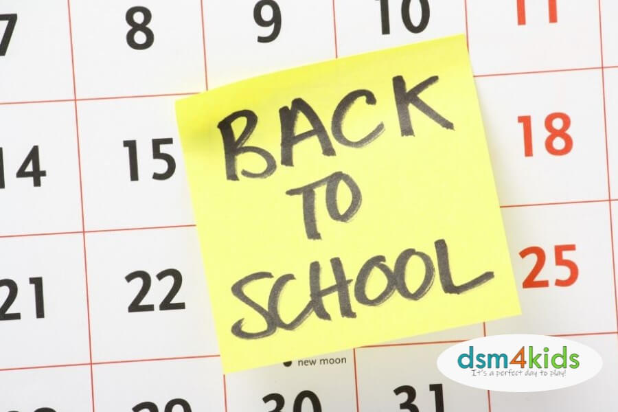 Central Iowa School Starting Dates for the 2019-20 School Year