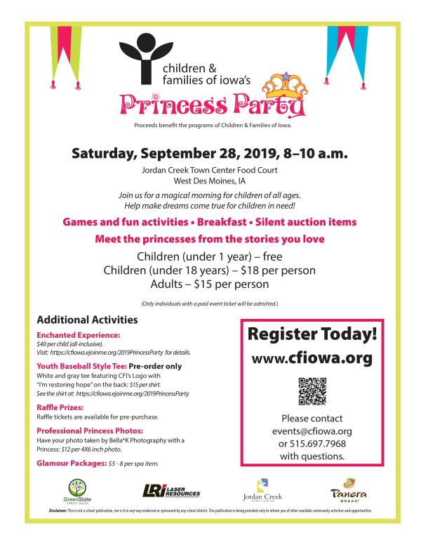 CFI Princess Party Ticket Giveaway