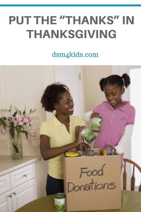 "Put the ""Thanks"" Back in Thanksgiving – dsm4kids.com"