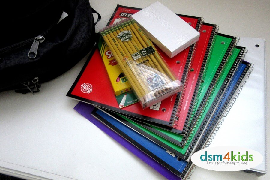 Where to Donate or Receive FREE School Supplies for the 2020-21 School Year in the Des Moines Area