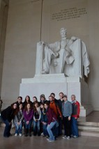 DC Interterm Class at Lincoln Memorial