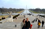 Lyndsey and Mark at Lincoln Memorial