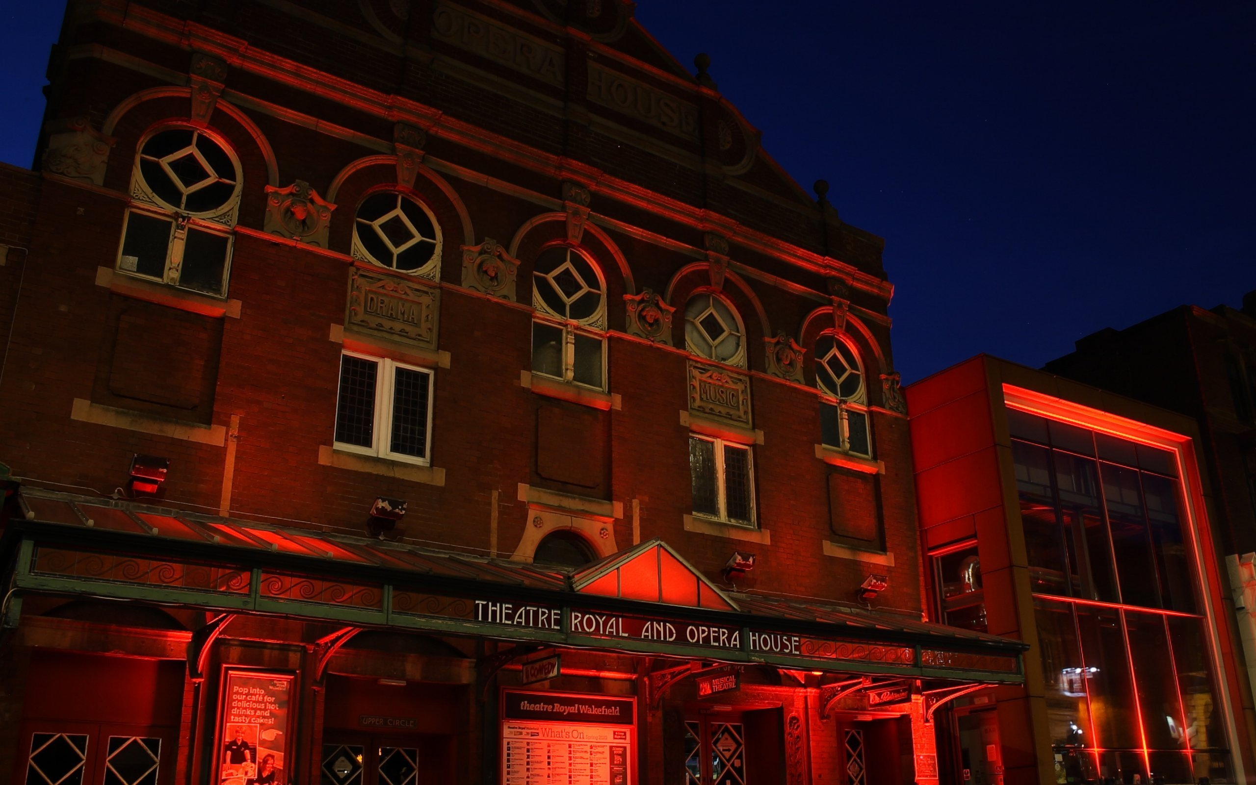 #LightItInRed Theatre Royal Wakefield