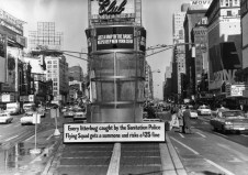 21 A gigantic litter basket in Times Square, New York_ March 1964