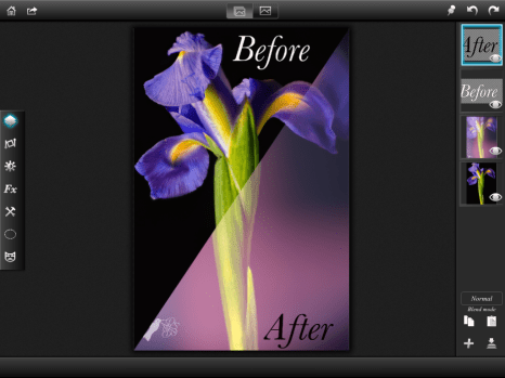 Portrait Iris - Before and After