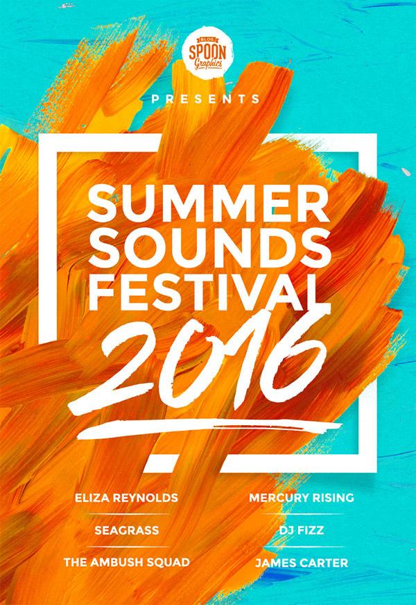 create a music festival poster design