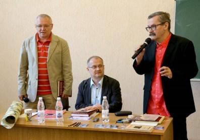 Зліва направо: Леонід Тимошенко, Даріуш Вояковський, Ґжеґож Юзефчук