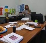 Валентина Фольц під час презентації свого проекту
