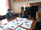 На захистi творчого проекту перед членами журi доцентами Галиною Мельник та Надією Кузан
