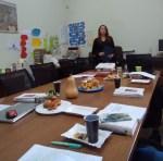 Наталія Безкоровайна під час презентації свого проекту