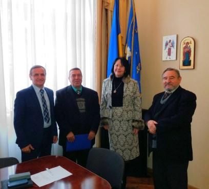 Професор Микола Гамзюк на зустрічі в ректора університету
