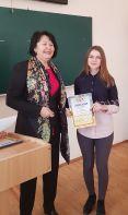 Нагородження Г. Соколової дипломом ІІІ ступеня