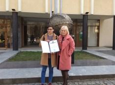 Студент Захар Савостейко та професор Тетяна Логвиненко
