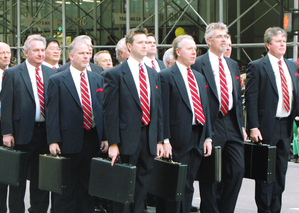 img - suits marching