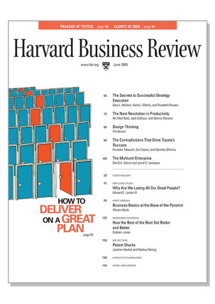 img - Design Thinking cover Harvard Business Review HBR