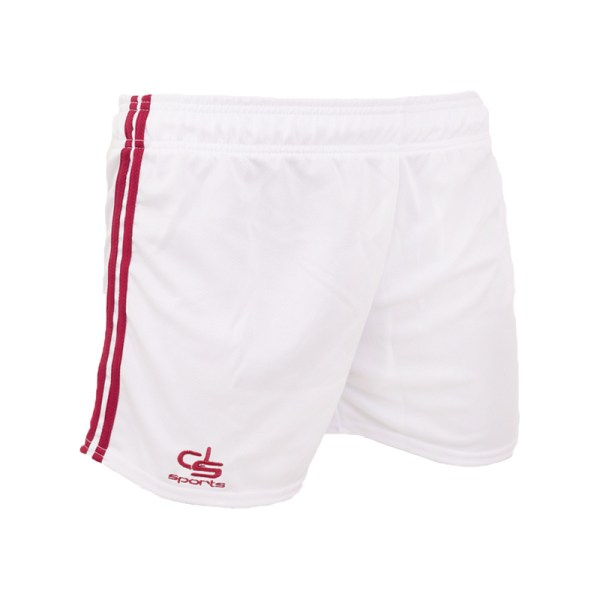 Shorts White/Maroon