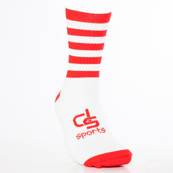 GAA Half Socks Red/White