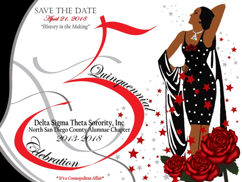 Anniversary -Postcard Save the date black dress