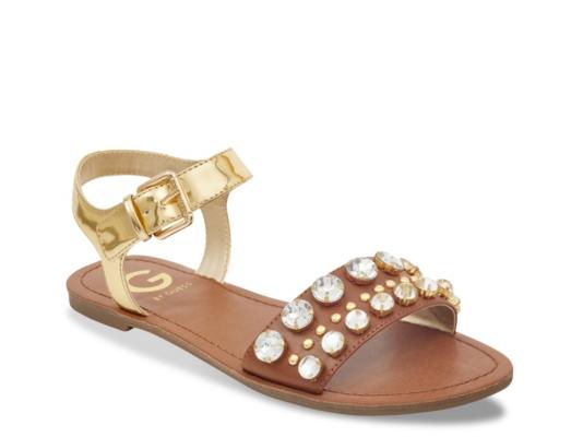 e4d8ef3964bc G By Guess Hallz Flat Sandal Women s Shoes Dsw