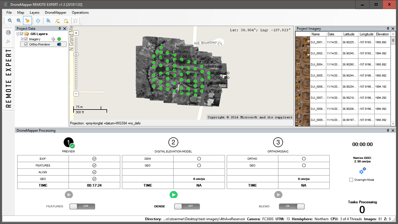 Latest from DroneMapper Rapid / Remote Expert Release