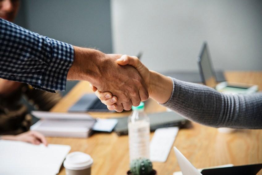 Office hand shake