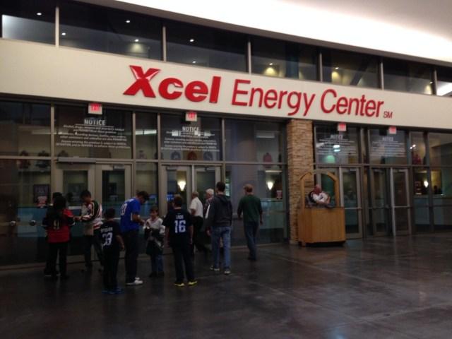 Xcel Energy Center entrance