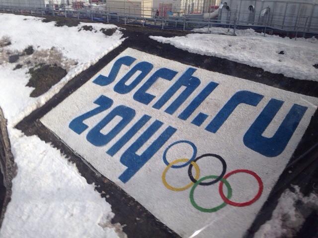 2014 Winter Olympics Sochi logo snow display