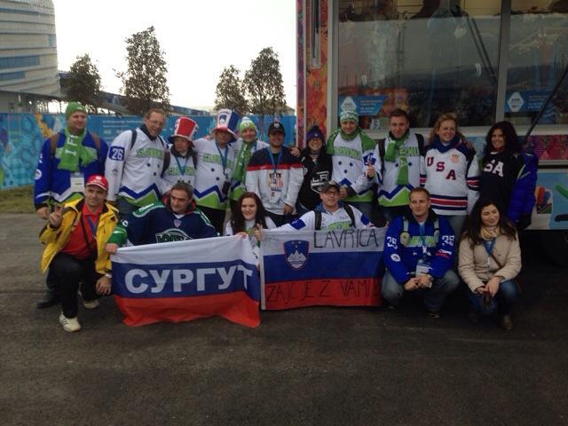 2014 Winter Olympics Sochi USA vs Slovenia fans