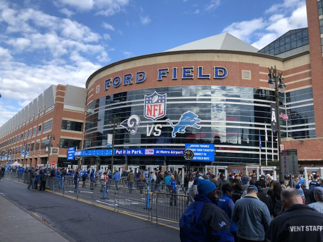 Ford Field Detroit Lions events seating parking hotels food