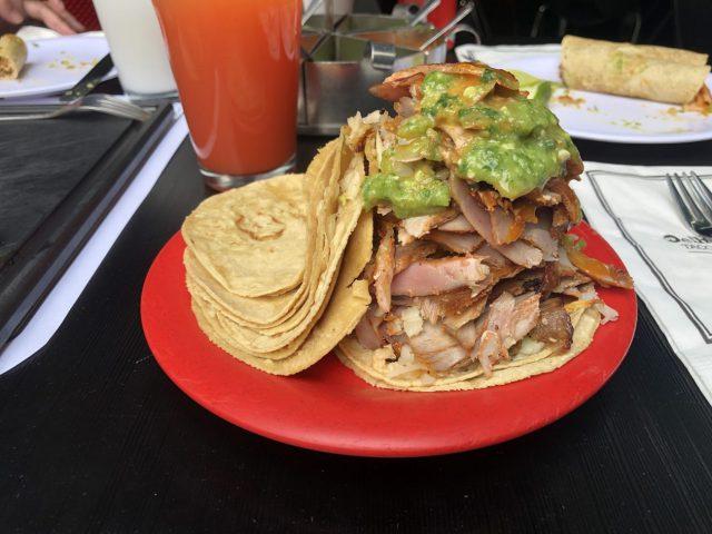 Tacos al pastor El Huequito Mexico tiy