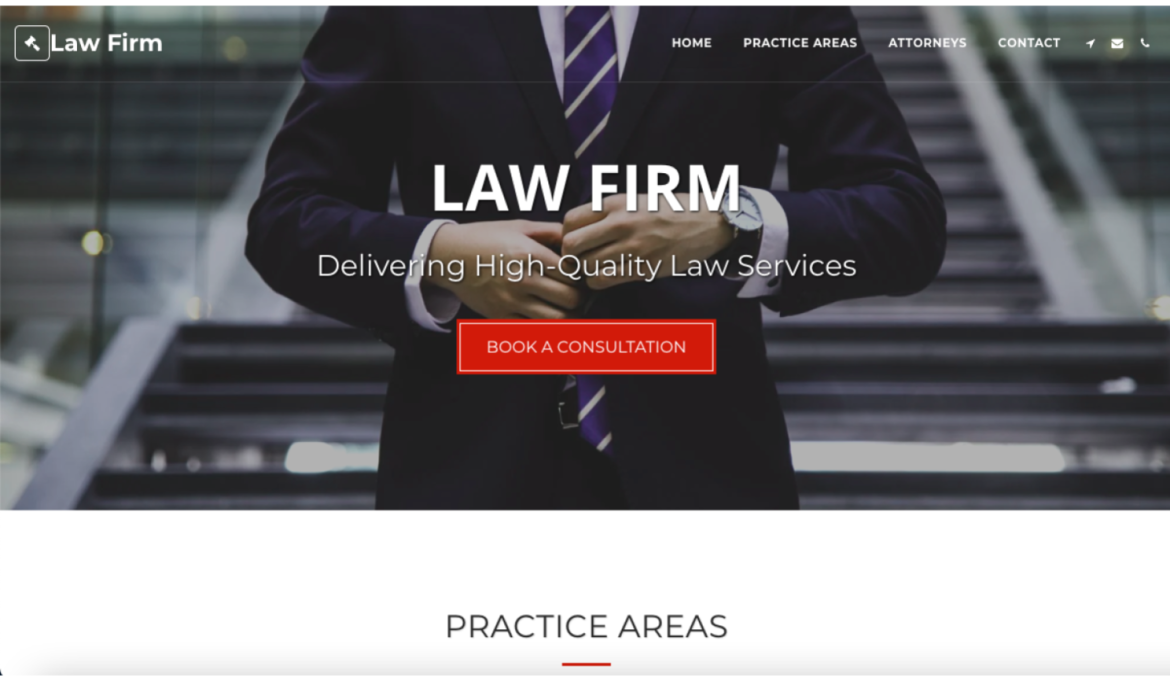 SITE123 Law Firm template homepage
